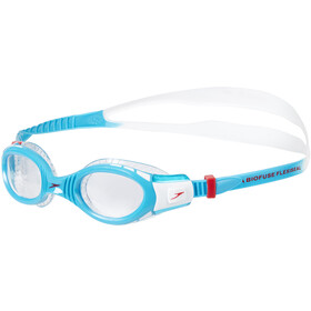 speedo Futura Biofuse Flexiseal Goggles Kinder white/turquoise/clear